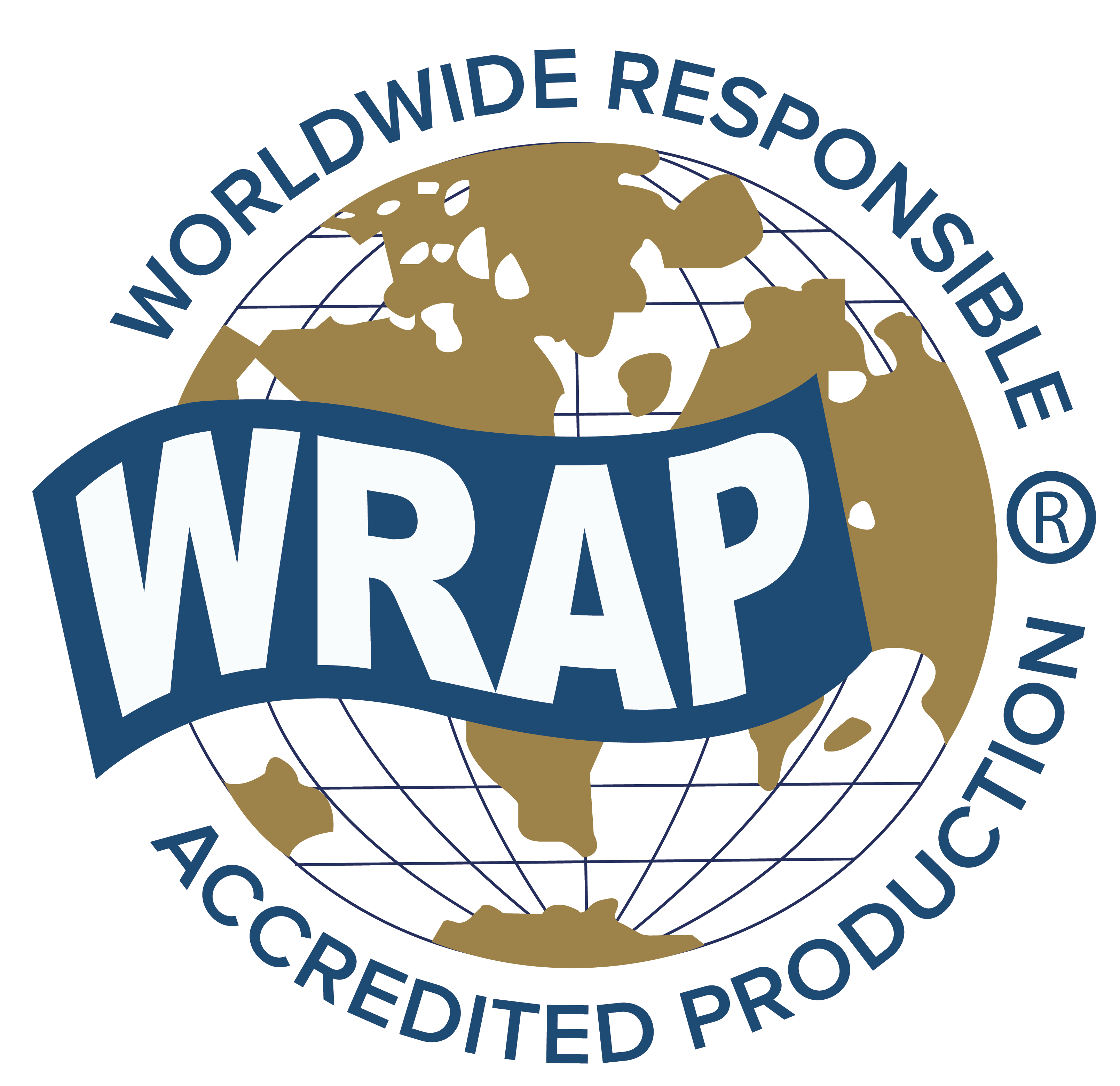 Logo des Siegels WRAP (Worldwide Responsible Accredited Production)